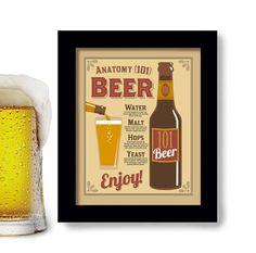 Beer Sign Bar Art Stein Kitchen Art Pub Decor Beer Gift by DexMex, $18.00