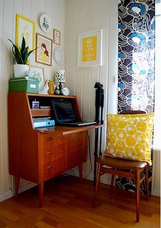Cute and cheerful home office space