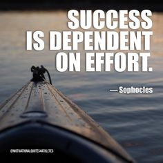 Success is dependent on effort.  Sophocles