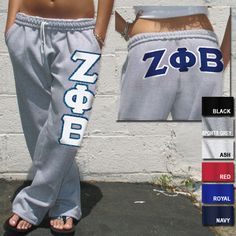 Not on the butt, though...Zeta Phi Beta Sorority Open Bottom Sweatpants $34.99