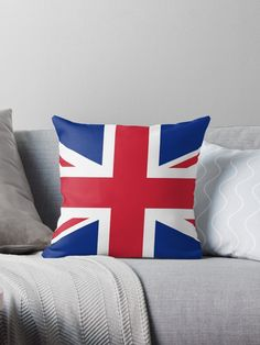 'United States and The United Kingdom Flags United Forever' Throw Pillow by podartist