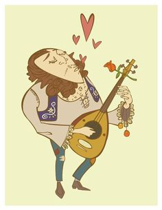 Guitar Player  The Village Band  by Jaime Hernandez by Crayonblood, $10.00