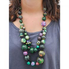 Collar Doble - Dark Green, verde oscuro.