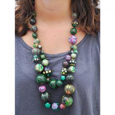 Collar Doble - Dark Green, verde oscuro.
