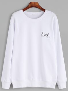 To find out about the Gesture Print Sweatshirt at SHEIN, part of our latest Sweatshirts ready to shop online today! Hipster Outfits, Mode Outfits, Casual Outfits, Hoodie Sweatshirts, Sweatshirts Online, Printed Sweatshirts, Sweatshirt Outfit, Fashion Clothes, Fashion Outfits