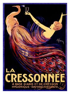 Artehouse LLC 'La Cressonnee' Graphic Art on Wood Vintage Wine, Vintage Ads, Vintage Posters, French Posters, Italian Posters, Retro Posters, Vintage Glamour, Vintage Prints, French Vintage