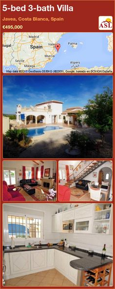 Villa for Sale in Javea, Costa Blanca, Spain with 5 bedrooms, 3 bathrooms - A Spanish Life Murcia, Bathroom Fireplace, Electric Gates, Summer Kitchen, Central Heating, Terrace, Spanish, Villa, Mansions