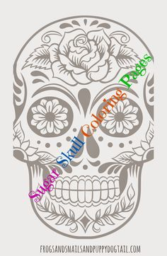 Day of the Dead Sugar Skull Coloring PagesAnimal Color Pages for KidsFun Face Coloring Pages for Kids