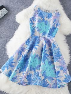 Fashion jacquard print dress