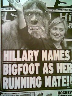 Hilary names Bigfoot as her running mate!