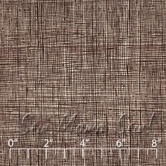 Heath fabric in Chocolate - from the 'In the Kitchen' collection from Alexander Henry.