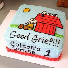Snoopy Charlie Brown cake