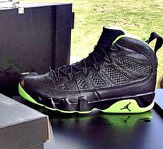d05c3a0b17758b Young Air Jordan IX Boys Shoe XX8 Days Of Flight Winners Triple Black Pine  Green Original