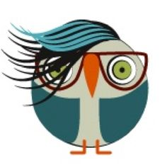 A fun funky-haired owl from owladay.wordpress.com