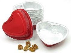 Medium Aluminum Heart-Shaped Foil Pan - #6055