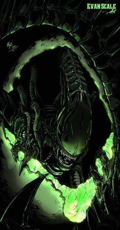 10 Strange Facts Behind Alien Films Alien Vs Predator, Predator Movie, Predator Alien, Les Aliens, Aliens Movie, Arte Alien, Alien Art, Alien Film, Hr Giger Art