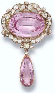 HRH Princess Margaret Pink Topaz Pin