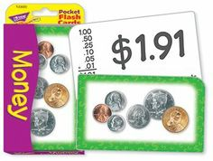 "* POCKET FLASH CARDS MONEY 56-PK by Trend Educational Products. $5.22. 3 X 5 TWO-SIDED CARDS. * 52 money equation cards feature photographs of U.S. coins. On back: number and word equivalents plus the numerical equation. Includes 4 information/activity cards. Ideal for home, school, or travel. 56 two-sided cards per set, with quick-sorting rounded corners. Handy 3 1/8"" x 5 1/4"" size.. Save 48% Off!"