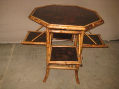Antique Bamboo Furniture: Chinese, Japanese, English and Victorian Bamboo Cabinets and tables Beach Furniture, Cane Furniture, Bamboo Furniture, Antique Furniture, Bamboo Cabinets, Chinese Bamboo, English, Faux Bamboo, Antique Stores