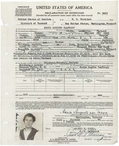 Part of the story of the real von Trapp family can be found in the records of the National Archives. Maria von Trapp's certificate of arrival into Niagara Falls, NY, on December 30, 1942, authenticated that she arrived legally in the United States. (Records of District Courts of the United States, RG 21)