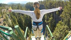 Take the leap Go hang gliding, skydiving or bungee jumping.