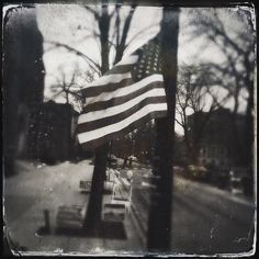 Primary day in Chicago. #tintype #hipstamatic  #vote #voted #andersonville #rockthevote #oldglory #starsandstripes #primaryday