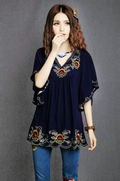 Floral Embroidered Maternity Blouse Vintage Summer Plus Size Clothing Blouses  Shirt For Pregnant Women Casual Gravida Shirts 838dd4188162