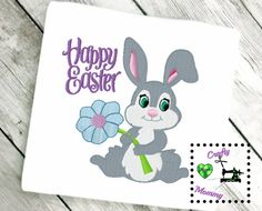 Baby Bunny Embroidery Design  Easter Embroidery Design