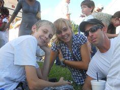 Grandkids Kacey, Sydni and my son Aaron