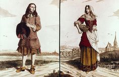 18th Century Peasant Clothing | French Peasants, 18th Cent Photograph - French Peasants, 18th Cent ...