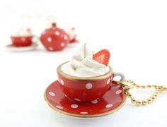 Cup Of Coffee charm necklace alice in wonderland by shimrita, $18.99
