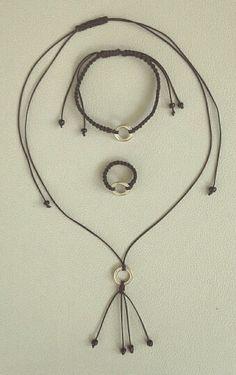 Macrame, bracelet, ring, necklace