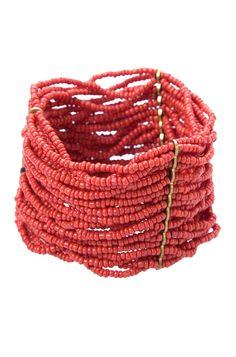 Pulseira de Fio de Pedras Vermelho - clique para ver detalhes da peça em nosso site!