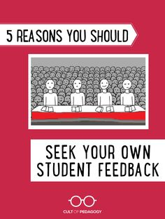 If you've never asked students for serious, honest feedback about your teaching, your materials, and your class, there's a good chance you're missing something. CultofPedagogy.com Cult Of Pedagogy, Middle School Grades, Feedback For Students, Educational Leadership, Career Advice, Professional Development, Adolescence, School Ideas, High School