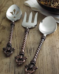 "✯ ༻❁༺ ❤️ ༻❁༺ ✯ GG Collection Three-Piece ""Fleur-de-Lis"" Hostess Set ✯ ༻❁༺ ❤️ ༻❁༺ ✯"