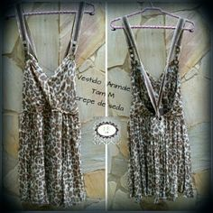 Vestido Animale  Tam M Crepe de seda #animale #print #estampa #brecho #fashion #moda #Love