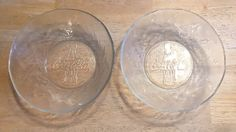 VINTAGE COCA-COLA CLEAR GLASS, FROSTED LOOK, EMBOSSED BOWLS-SET OF TWO-NICE!  | eBay
