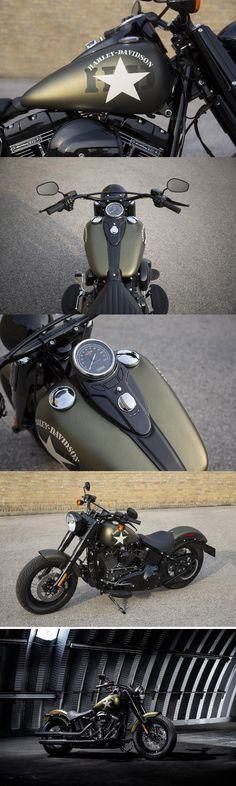 2017 Harley-Davidsom Softail Slim S Vintage Motorcycles, Custom Motorcycles, Custom Bikes, Cars And Motorcycles, Custom Baggers, Triumph Motorcycles, Hd Fatboy, Motos Harley Davidson, Style Masculin