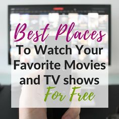 Tired of paying so much for cable tv? Ready to cut the cable cord? If so, here& the ultimate list of places to watch tv free online with. Tv Hacks, Movie Hacks, Frugal Living Tips, Frugal Tips, Watch Tv Online, Tv Watch, Watch Tv For Free, Tv Without Cable, Cable Tv Alternatives