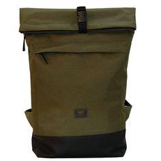 FREIBEUTLER Courier Bag oliv, Kurier Rucksack, Rolltop Backpack, Hamburg