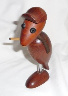 Teak bird - bottle opener