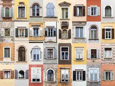 Windows of Trento, Italy