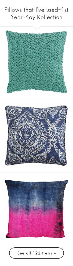"""Pillows that I've used~1st Year~Kay Kollection"" by addicted2design ❤ liked on Polyvore featuring home, home decor, throw pillows, blue toss pillows, blue chevron throw pillows, blue throw pillows, blue home decor, blue accent pillows, outdoors and outdoor decor"