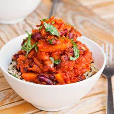 Avocado pesto: Vegan chili squash