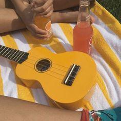I used to have a yellow ukulele, but it broke :( Aesthetic Colors, Summer Aesthetic, Aesthetic Photo, Aesthetic Pictures, Aesthetic Yellow, Camping Aesthetic, Sun Aesthetic, Amarillis, Photocollage