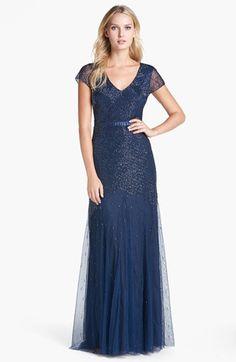 Women's Adrianna Papell Beaded Mesh Gown My bridesmaids dress!!!