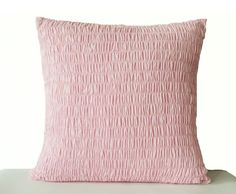 Accent Throw Pillow Cover In Pink Cotton Voile  Nursery Gifts