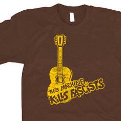 This machine kills fascists T shirt Woody by 9dollartshirts