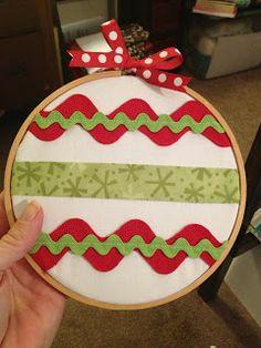 cute hoop ornament idea