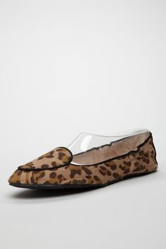 Leap into summer with a frisky animal print, like this classic black leopard safari flat.